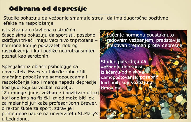 vezbanje protiv depresije