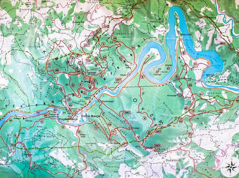 Ovcarsko kablarska klisura staze
